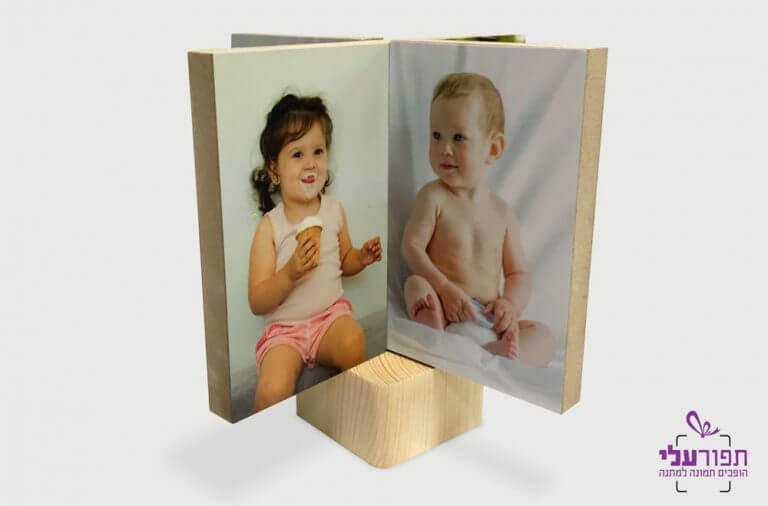 בלוק עץ הדפסת 8 תמונות