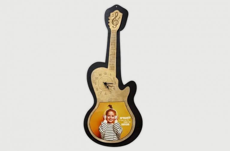 שעון גיטרה עם הדפסה אישית
